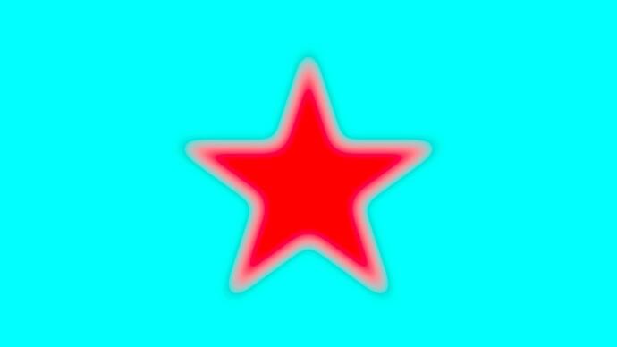 Red_star_on_cyan_32bit_ACEScg_AffinityPhoto_blur
