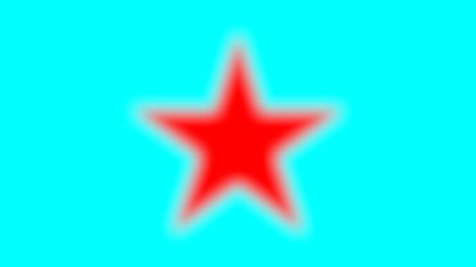 Red_star_on_cyan_32bit_srgb_linear_AffinityPhoto_blur