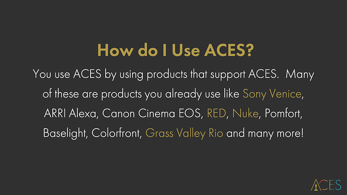 Intro to ACES 5