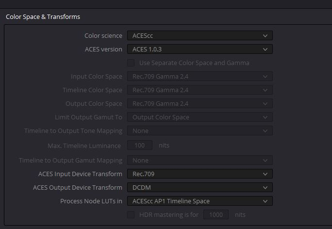 Resolve_Aces_settings