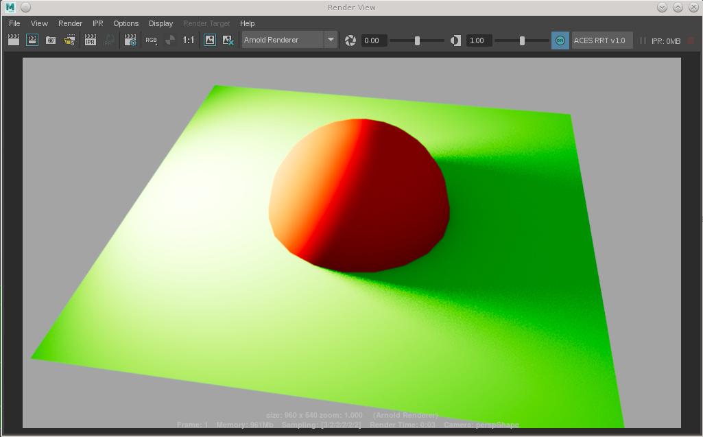 ACES in Maya VS Ocio - VFX - ACES Central